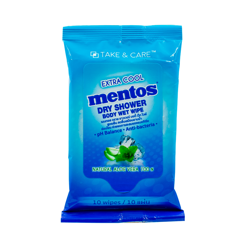 Mentos-DryShower-10wipes-Front